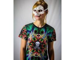Bones womens shirt Mandala skull