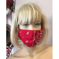 Mouth Cap Paisley red