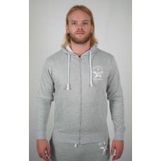 Grey hoody zipper