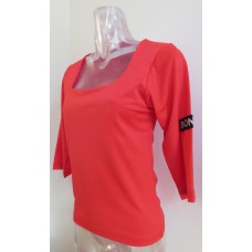 Red t-shirt square neckline