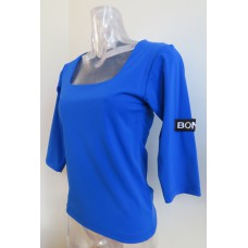 Blue shirt square neckline