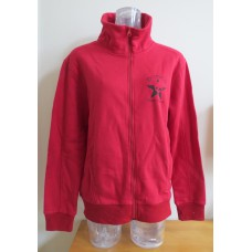 Red hoody zipper