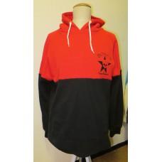 Hoody red black
