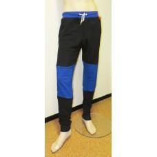 Black blue sweatpants BONES-unisex
