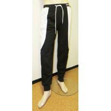 Black white sweatpants BONES-unisex