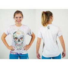 Shirt Flower Skull - Technodry